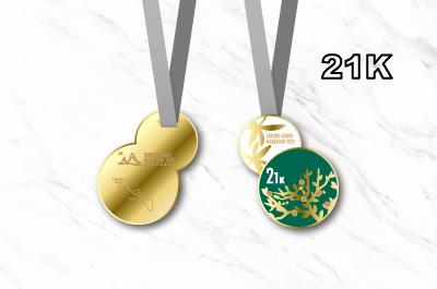 2018Taroko Gorge Marathon Medal-21K